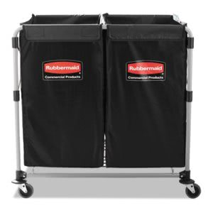 Rubbermaid 1881781 Collapsible 2-4 Bushel Steel X-Cart, Black (RCP1881781)