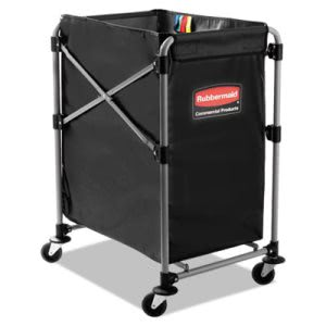 Rubbermaid 1881749 Collapsible Steel X-Cart, Black/Silver (RCP1881749)