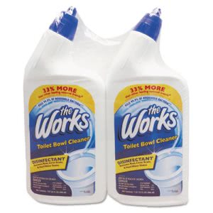The Works Disinfectant Toilet Bowl Cleaner, 2-Pack (KIK33302WK)