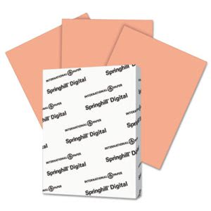Springhill Index Color Card Stock, 8 1/2 x 11, Salmon, 250 Sheets (SGH085100)