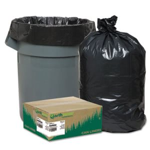 60 Gallon Black Garbage Bags, 38x58, 1.65mil, 100 Bags (WEB RNW6060)