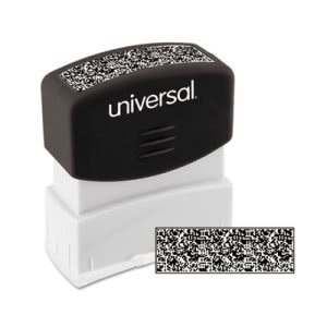 Universal Security Stamp, Obscures Area 9/16 x 1 11/16, Black (UNV10136)