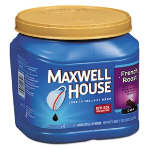 Maxwell House Coffee, Ground, French Roast, 29.3 oz Canister (MWH04651)