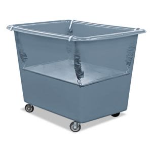 Royal Basket Trucks Poly Spring Lift, 6 Bushel, Vinyl/Steel, Gray (RBTR06GGXPSN)