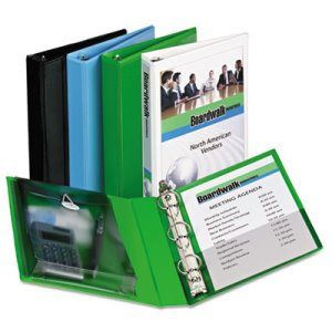 "Avery Protect & Store View Mini Binder, 1"" Capacity, Green (AVE23030)"