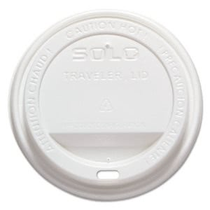 Solo Cup Company Traveler Drink-Thru Lid, White, 1000/Carton (SCCTLP316)