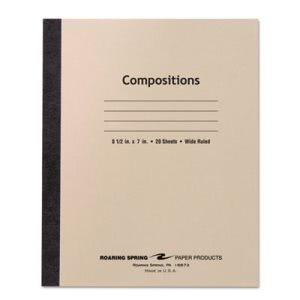 "Roaring Spring Stitched Wide Rule Composition Book, 8-1/2"" x 7"" (ROA77340)"