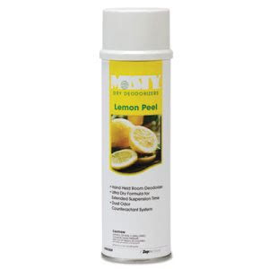 Misty Handheld Air Sanitizer/Deodorizer, Lemon Peel, 10oz, 12 Cans (AMR1001842)