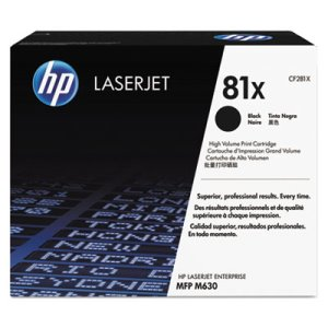 Hp CF281X (81X) High-Yield Toner, 25000 Page-Yield, Black (HEWCF281X)