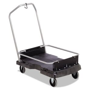 Rubbermaid Commercial Ice-Only Cart, 500-lb Cap, 21 2/5w x 39 1/10d x 15h, Black (RCP9F55BLA)