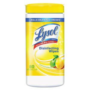 Lysol 77182 Lemon & Lime Blossom Disinfectant Wipes, 6 Canisters (RAC77182CT)