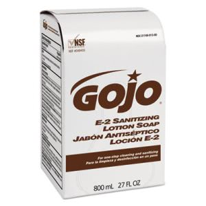 Gojo E-2 Sanitizing Lotion Hand Soap 800-ml Refill, 12 Refills (0OJ913212CT)
