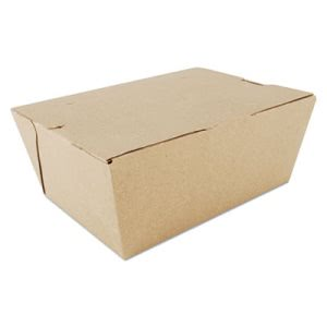 Sct ChampPak Carryout Boxes, Brown, 7 3/4 x 5 1/2 x 3 1/2, 160/Carton (SCH0734)