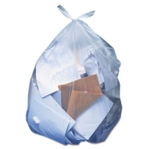 56 Gallon Clear Garbage Bags, 43x47, 1.1 Mil, 100 Bags (HERH8647SC)