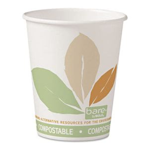 Solo Bare 10-oz. Compostable Hot Cups, 1,000 Cups (SCC 370PLA-BB)