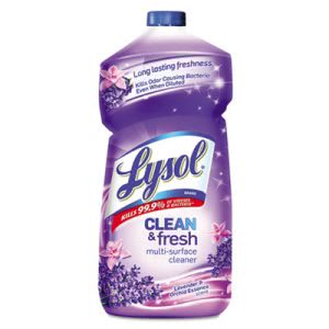 Lysol All-Purpose Cleaner, Lavender/Orchid Essence, 40oz, 9/Carton (RAC78631)