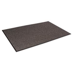 Crown Oxford Wiper Mat, 48 x 72, Black/Brown (CWNOXH046BR)