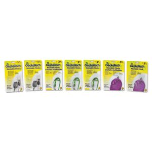 Duck Reusable Plastic Hooks, Assorted Capacity, Clear, 16 Hooks (DUC283788)
