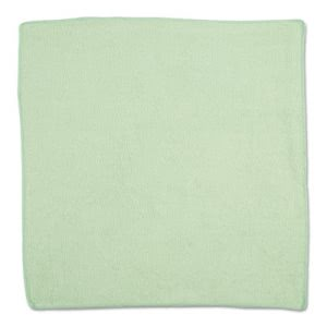 Rubbermaid Commercial Microfiber Cleaning Cloths, Green, 24 Cloths (RCP1820582)