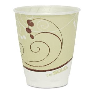 Solo Trophy Foam Drink Cup, 8-oz., Symphony Design, 1,000 Cups (SCCX8J8002)