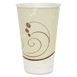 Solo Jazz 16-oz. Trophy Foam Cup, Symphony Design, Tan, 750 Cups (SCCX16NJ)