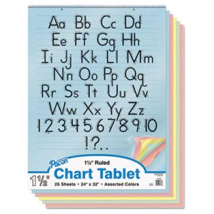 Pacon Colored Chart Tablet, Ruled, 24 x 32, 25 Sheets (PAC74733)