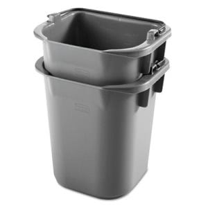 Rubbermaid 1857391 Executive 5 Quart Heavy Duty Pail, Gray (RCP1857391)