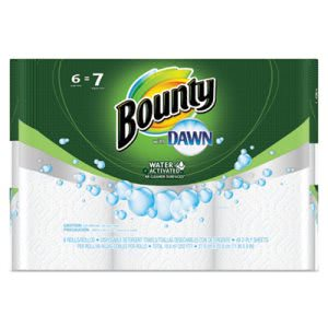 Bounty 92380 with Dawn 2-Ply Kitchen Paper Towel Rolls, 6 Rolls (PGC92380)