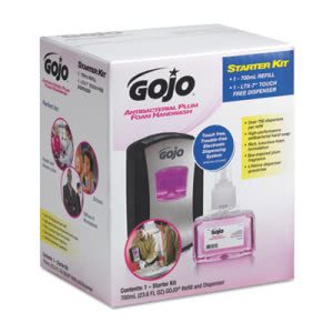 Gojo 1312D4 Touch-Free LTX-7 Antibacterial Foam Soap Dispenser Kit (GOJ1312D4)