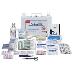 First Aid Kit for 25 People, 106 Pieces, OSHA Compliant, Metal Case (FAO224U)