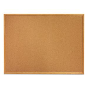Quartet Classic Cork Bulletin Board, 24 x 18, Oak Finish Frame (QRT301)