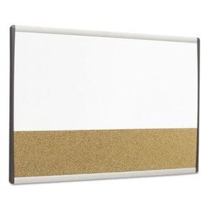 Quartet Magnetic Dry Erase/Cork Board, Painted Steel, 18 x 30 (QRTARCCB3018)
