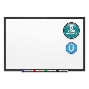 Quartet Standard Magnetic Whiteboard, 65 x 39-1/2, Black Frame (QRTSM535B)