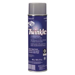 Twinkle Stainless Steel Cleaner & Polish, 12 Aerosol Cans (DVO991224)