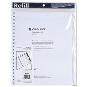 At-A-Glance Three/Five-Year Monthly Planner Refill, 9x11,White,2017 (AAG7092377)