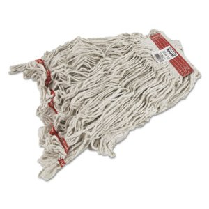 Rubbermaid C114 Swinger Loop Wet Mop Heads, White, X-Large, 6 Mops (RCPC114WHI)