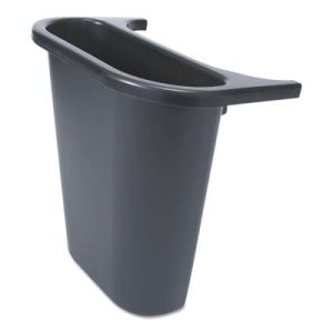 Rubbermaid Saddle Basket Recycling Side Bin, Black (RCP295073BLA)