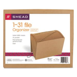 Smead 1-31 Indexed Accordion Expanding Files, Letter, Kraft Brown (SMD70168)