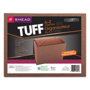 Smead Heavy-Duty A-Z Accordion Expanding File, 21 Pocket, Letter, Leather-Like Redrope (SMD70318)