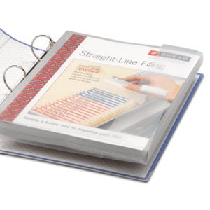 Smead Poly Ring Binder Pockets, 9 x 11-1/2, Clear, 3/Pack (SMD89500)