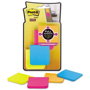Post-it Full Adhesive Notes, 2 x 2, Rio De Janeiro, 8 Pads (MMMF2208SSAU)