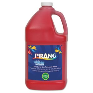 Prang Washable Paint, Red, 1 gal (DIX10601)