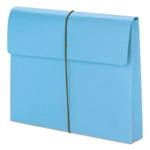 "Smead 2"" Expanding File Folder with Cover, Letter, Blue, 10 Folders (SMD77203)"