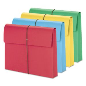 "Smead 2"" Expanding File Folder w/ Cover, Letter, Assorted, 10 Folders (SMD77251)"