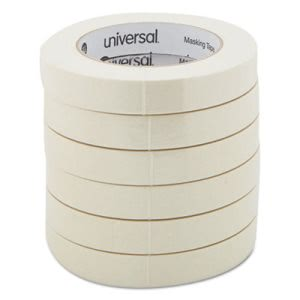 "General Purpose Masking Tape, 3/4"" x 60 yards, 3"" Core, 6 per Pack (UNV51334)"