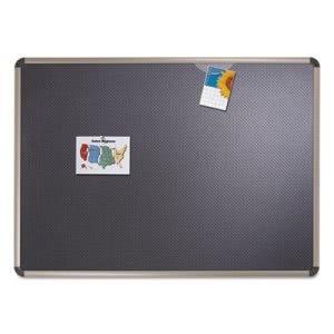 Quartet Euro-Style Bulletin Board, High-Density Foam, 48 x 36, Black/Aluminum Frame (QRTB364T)