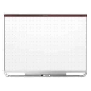Quartet Prestige Magnetic Whiteboard, 48 x 36, Mahogany Color Frame (QRTTEM544M)