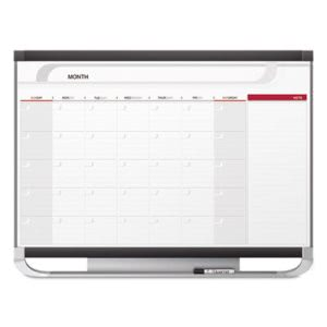 Quartet Prestige Monthly Calendar, 48 x 36, Graphite Color Frame (QRTCP43P2)