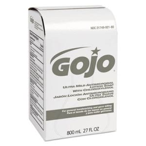 Gojo Mild Lotion Soap w/Chloroxylenol Refill, 800-ml, 12/Carton (GOJ921212CT)
