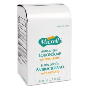 Gojo Antibacterial Lotion Soap Refill, Unscented, 800ml, 12/Carton (GOJ975712CT)